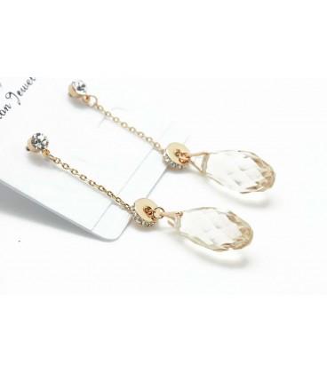 Drops Dangle Gold Earrings (2090024)