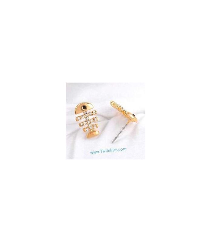 Crystal Fishbone Earrings 2030005