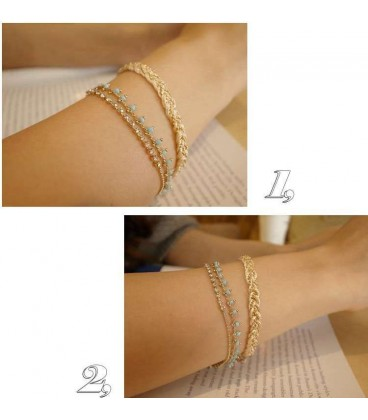 Alloy Blue Chain Bracelet (4050019)