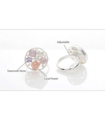 White Rose Circle Ring (5010005)