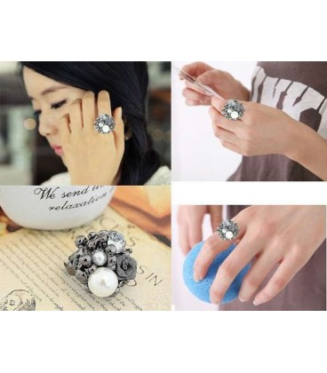 Alloy Rose Ring (Choose Color)5050007)