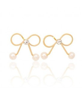 Cherry Clover Gold Earrings (2090009)