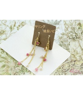 Crystal Ball Gold Earring (2090007)