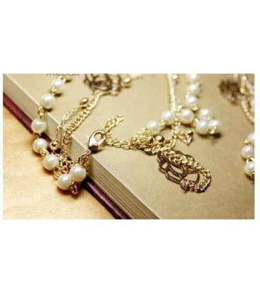 Alloy Long Pearl Necklace (3050008)