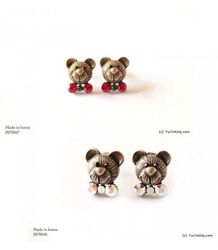 Teddy Bear Earrings Choose Stone 2070046