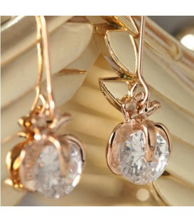 Floral Pearl Gold Earrings(2090008)